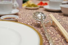 Restaurant table layout Stock Image