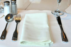 Restaurant table layout Stock Photo