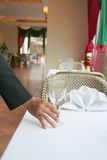 Restaurant table manner Royalty Free Stock Image