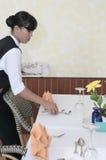 Restaurant table manner Stock Image