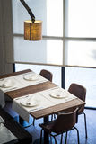 Restaurant. Table with a modern style Royalty Free Stock Image