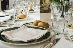 Restaurant table Stock Photography