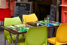 Restaurant table in Provence Stock Photography