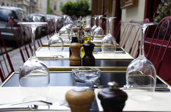 Restaurant table Royalty Free Stock Photo