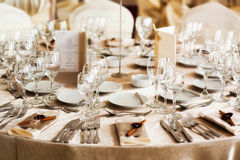 Restaurant table set up for event Royalty Free Stock Photography
