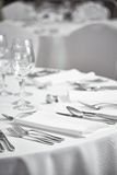 Restaurant table setout Royalty Free Stock Photography