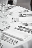 Restaurant table setout Royalty Free Stock Photos