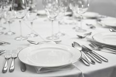 Restaurant table setout Royalty Free Stock Image