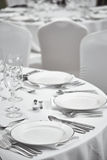 Restaurant table setout Stock Photos
