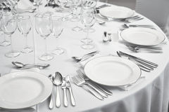 Restaurant table setout Royalty Free Stock Photo