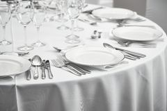 Restaurant table setout Royalty Free Stock Images
