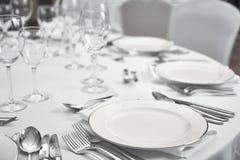 Restaurant table setout Royalty Free Stock Photos