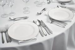 Restaurant table setout Royalty Free Stock Photography