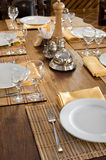 Restaurant table setting Stock Image