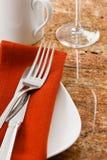 Restaurant Table Setting Stock Photography