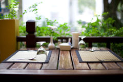 Restaurant table setting Stock Photography
