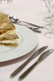 Restaurant table setting royalty free stock image
