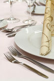 Restaurant table setting stock photos