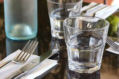 Restaurant Table Setting Royalty Free Stock Photography