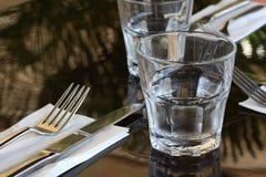 Restaurant Table Setting Stock Image