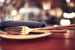 Free Restaurant Table Setting Royalty Free Stock Photos - 60036448