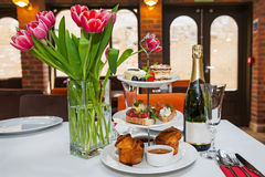 Restaurant table setting. Stock Photography