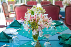 Restaurant. Table setting in a restaurant in Nuwara Eliya Stock Photography