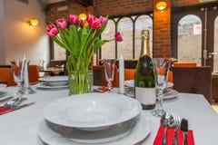 Restaurant table setting. Royalty Free Stock Image