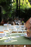 Restaurant table setting Stock Photo