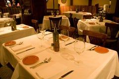 Restaurant table settings Stock Image