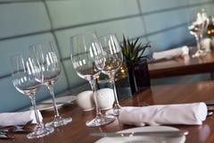 Restaurant table setup Stock Photos