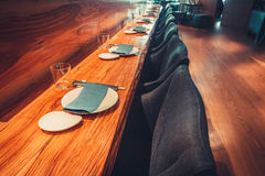 Restaurant with table and tableware Stock Photography