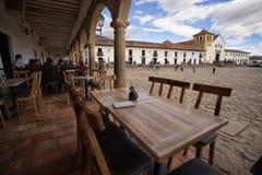 Restaurant table in Villa de Leyva Royalty Free Stock Photo