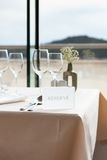 Restaurant table by the window Royalty Free Stock Photo
