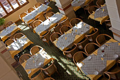 Restaurant tables. The tables at the restaurant - areal view Stock Photography