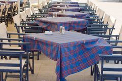 Restaurant tables Royalty Free Stock Image