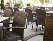 Restaurant tables Stock Photo
