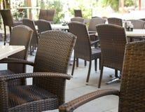 Restaurant tables Stock Photo