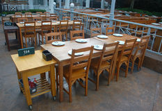 Restaurant. Tables and chairs in the restaurant Stock Image