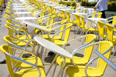 Restaurant tables outdoors Royalty Free Stock Photo