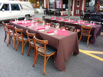 Restaurant Tables Outside for Dining Al Fresco Royalty Free Stock Photo
