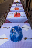Restaurant Tables Outside  Royalty Free Stock Photo