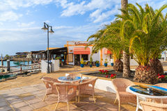 Restaurant tables in Rubicon port Stock Photography