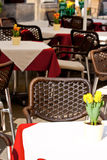 Restaurant tables Royalty Free Stock Images