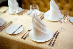 Restaurant tableware Royalty Free Stock Images