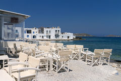 Restaurant taverns in greek island Royalty Free Stock Image