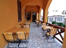 Restaurant terrace. Arrangement, in Romania Royalty Free Stock Images