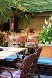 Restaurant and terrace Royalty Free Stock Photo