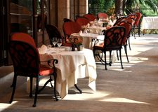 Restaurant terrace Stock Image