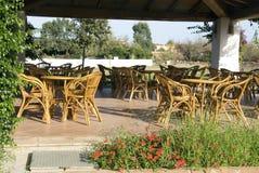 Restaurant terrace. A nice restaurant terrace in Sardinia - Italy Royalty Free Stock Photos